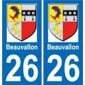 66 Cerdagne sticker autocollant plaque