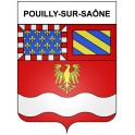 Stickers coat of arms Pouilly-sur-Saône adhesive sticker