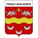 Stickers coat of arms Prusly-sur-Ource adhesive sticker
