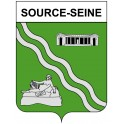 Stickers coat of arms Source-Seine adhesive sticker