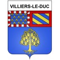 Stickers coat of arms Villiers-le-Duc adhesive sticker