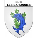 Stickers coat of arms Buis-les-Baronnies adhesive sticker