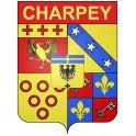 Charpey 26 ville Stickers blason autocollant adhésif