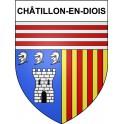 Stickers coat of arms Châtillon-en-Diois adhesive sticker