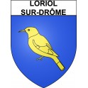 Stickers coat of arms Loriol-sur-Drôme adhesive sticker
