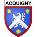Acquigny 27 ville Stickers blason autocollant adhésif