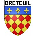 Stickers coat of arms Breteuil adhesive sticker