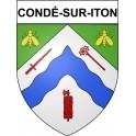 Condé-sur-Iton 27 ville Stickers blason autocollant adhésif