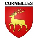 Stickers coat of arms Cormeilles adhesive sticker