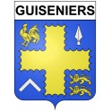 Stickers coat of arms Guiseniers adhesive sticker