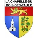 Stickers coat of arms La Chapelle-du-Bois-des-Faulx adhesive sticker
