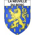 Stickers coat of arms La Neuville-du-Bosc adhesive sticker