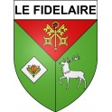 Stickers coat of arms Le Fidelaire adhesive sticker