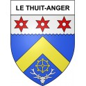 Stickers coat of arms Le Thuit-Anger adhesive sticker