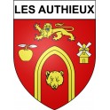 Stickers coat of arms Les Authieux adhesive sticker