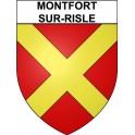 Stickers coat of arms Montfort-sur-Risle adhesive sticker