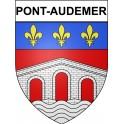 Pont-Audemer 27 ville Stickers blason autocollant adhésif