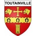 Toutainville 27 ville Stickers blason autocollant adhésif