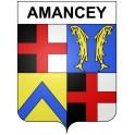 Amancey 25 ville Stickers blason autocollant adhésif