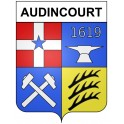 Stickers coat of arms Audincourt adhesive sticker