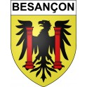 Stickers coat of arms Besançon adhesive sticker