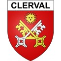Stickers coat of arms Clerval adhesive sticker