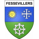 Stickers coat of arms Fessevillers adhesive sticker