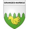 Granges-Narboz 25 ville Stickers blason autocollant adhésif