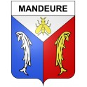 Stickers coat of arms Mandeure adhesive sticker