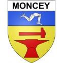 Moncey 25 ville Stickers blason autocollant adhésif