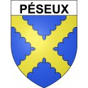 Stickers coat of arms Péseux adhesive sticker
