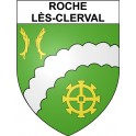 Stickers coat of arms Roche-lès-Clerval adhesive sticker