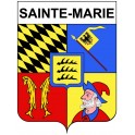 Sainte-Marie 25 ville Stickers blason autocollant adhésif