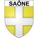 Stickers coat of arms Saône adhesive sticker