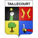 Stickers coat of arms Taillecourt adhesive sticker