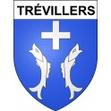 Stickers coat of arms Trévillers adhesive sticker