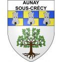Aunay-sous-Crécy 28 ville Stickers blason autocollant adhésif