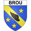 Stickers coat of arms Brou adhesive sticker
