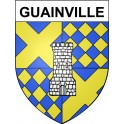 Stickers coat of arms Guainville adhesive sticker
