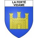 Stickers coat of arms La Ferté-Vidame adhesive sticker