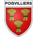 Stickers coat of arms Poisvilliers adhesive sticker