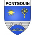 Stickers coat of arms Pontgouin adhesive sticker