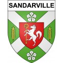 Stickers coat of arms Sandarville adhesive sticker