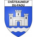 Stickers coat of arms Châteauneuf-du-Faou adhesive sticker