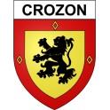Crozon 29 ville Stickers blason autocollant adhésif