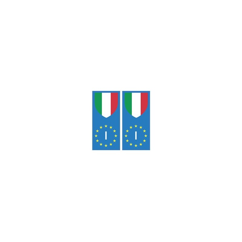 autocollant plaque immatriculation blason italie europe drapeau. Black Bedroom Furniture Sets. Home Design Ideas