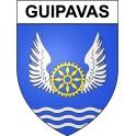 Guipavas 29 ville Stickers blason autocollant adhésif