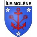 Île-Molène 29 ville Stickers blason autocollant adhésif