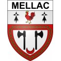 Stickers coat of arms Mellac adhesive sticker