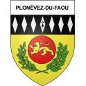 Plonévez-du-Faou 29 ville Stickers blason autocollant adhésif